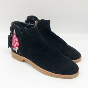 KATE SPADE Belleville Embroidered Suede Bootie